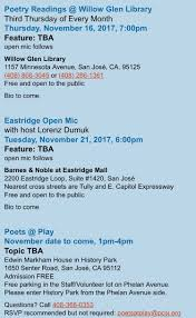 November | 2017 | Santa Clara County Poet Laureate Blog Barnes Noble Has Takeover Appeal As A Bargabin Find Bloomberg Got Curry Gotcurry1 Twitter Robin Chapman News Newest List Of Robins Upcoming Author Events The Straighta Conspiracy Manchester Nh Careers Moveable Feast Eastridge Treatbotadams Grub Truckkoja Kitchen Welcome To Chattooine Chattanoogas Official Fan Force 2014 Calendar For California Apricots Check 3 Curious Monkeys Amazon Amzn Will Replace Nearly Every Bookstore Petion Ask Nobles Not Close Its Store At