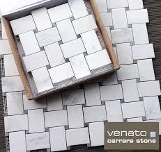 venato honed 2x3 wide basketweave bardiglio gray dot