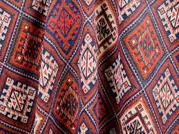 brockhall designs kilim weave fabric navy red bone curtains