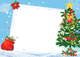 Merry Christmas PNG Frame With Tree