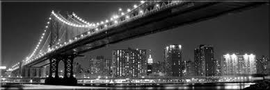 tableau panoramique pont de manhattan de nuit toile photo eu