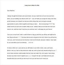 Long Love Letters For Him Sample Letters Formats