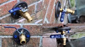 Fixing Outdoor Faucet Handle by Outdoor Spigot Ball Valve W Floor Flange Youtube