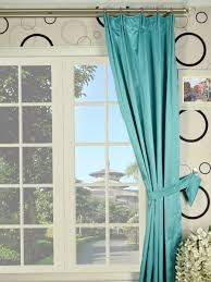 Teal Blackout Curtains Pencil Pleat by Waterfall Solid Blue Versatile Pleat Faux Silk Curtains