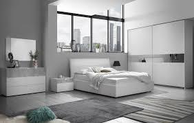 schlafzimmer set miyuki in weiss grau 160x190 cm mit