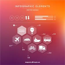 Modern Infographic With Hexagons Free Vector