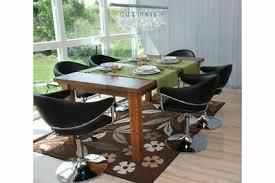 6er set schwarz esszimmerstuhl stuhl modern 6 stühle chrom