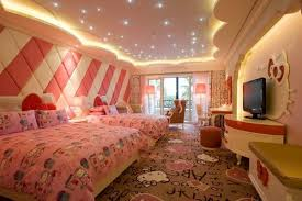 Girls Bedroom With Hello Kitty Theme Decorating Ideas Image