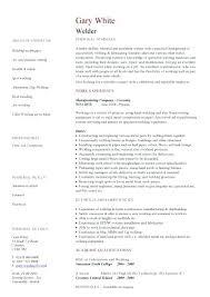 Welders Resume Letter Structural Welding Inspector