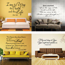 Bible Verse Wall Decals Christian Quote Vinyl Art Stickers Scripture Decor