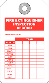 Extinguisher Inspection Tag Template By Record Tags Seton Uk