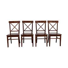 OFF Pottery Barn Pottery Barn Aaron Wood Dining Chairs Chairs