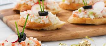 crab canapes crab canapés trans products