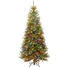 7 Ft Slim Snowy Christmas Tree by 7 5 Ft Artificial Christmas Trees Christmas Trees The Home Depot