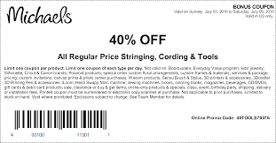 Online & In-Store Coupons Michaels Flyer 11292019 11302019 Weeklyadsus 5 Off Any Purchase 40 Off 1 Item Coupons Coupon Code Promo Up To 70 Cypress Ski Hill Save Up 60 On Rolling Storage Carts At The Pinned February 10th 50 A Single Item How Money Mymichaelsvisit Wwwmymichaelsvisitcom Survey Get 25 Thpacestoremichaelscoupon Team Shirts Coolmine Community School Entire Cluding Sale Items Coupon Free 2018 Iphone Beaver Coupons