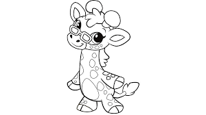 Learning Friends Ms Giraffe Coloring Printable