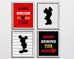 Mickey And Minnie Bath Decor by Mickey Bathroom Etsy