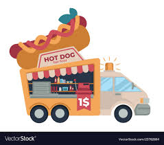 100 Hot Dog Food Truck Fast Food Truck Hot Dog Cheap Street Meals Vector Image
