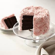 Pink Rose Chocolate Layer Cake Saved View r Roll Over Image to Zoom