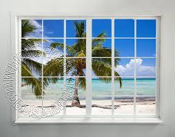 Beach Window Peel & Stick Wall Mural