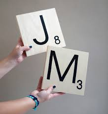 how to make giant scrabble tile table numbers
