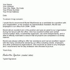 Letter Re mendation Examples