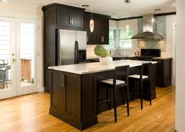 Kitchens With Dark Cabinets And Wood Floors by Kitchen Oak Cabinets With Dark Floors Honey Floor Kitchen Wood