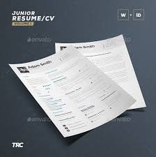 CV Resume Template Word And InDesign