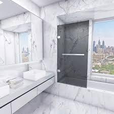 Bathtub Doors Home Depot by Vigo Rialto 34 In X 58 In Bathtub Door With 3125 In Sheer