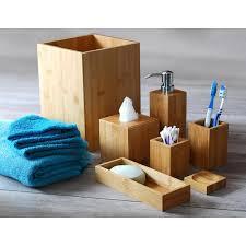 badezimmer accessoires aus bambus 7 teilig holzmaserung