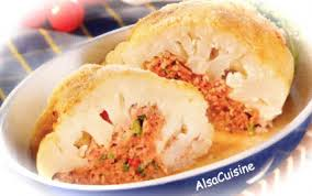 cuisiner chou recette chou fleur farci boeuf 750g