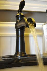 Rustic Kitchen Faucet Design With Black Color