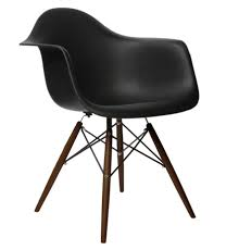 Eames Style DAW Molded In Black Plastic Dining Armchair With Dark ... 221d V Replica Eames Lounge Chair Organic Fabric Armchairs Nick Simplynattie Chairs Real Or Fniture Montreal Style And Ottoman Brown Leather Cherry Wood Designer Black Home 6 X Retro Eiffel Dsw Ding Armchair Beech Arm With Dark Legs For 6500 5 Daw Timber White George Herman Miller Eams Alinum Group Italian Surripuinet Light Grey