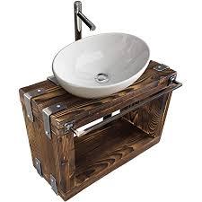chyrka badmöbel waschtisch boryslaw bad waschbecken hängeschrank waschtischunterschrank waschbecken unterschrank metall holz loft handmade natur 60