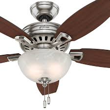 Brookhurst Ceiling Fan Downrod by 42 Brushed Nickel Ceiling Fan Black Blades With 7 Mushroom Globe