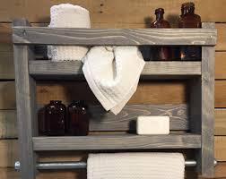 Towel Rack Bath Rustic Bathroom Farmhouse