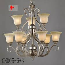 Buy CH005 6 3 Wrought Iron Chandelier Living Room Lamp Creative European Classical Retro Bedroom Villa Simple Bar Restaura In Cheap Price On