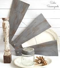 Decorative Ceiling Fan Blade Covers by Diy Farmhouse Style Salvaged Windmill Decor From Ceiling Fan Blades