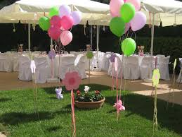 Baptism Decoration Ideas For Twins by Nice Way To Decor The Garden With Baloons Baptism Party Ideas