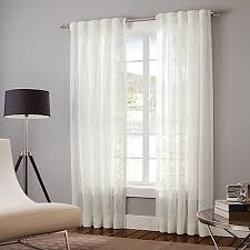 Bed Bath And Beyond Sheer Curtains by Designer U0027s Select Claudia Back Tab Window Curtain Panel In White