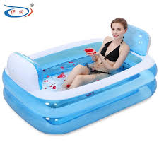 inflatable bathtub folding tub thickening adult bathtub child bath