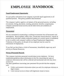 Employee Handbook Sample 7 Download Documents In PDF Word 6TqIkqAF