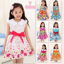 Dresses Girls 2015 Clothes For Teen Fashion Casual Floral Bow 100 Cotton Teenage Kd 4 15 Age In From Mother Kids On