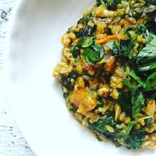 Pumpkin Risotto Recipe Easy by Pumpkin And Spinach Brown Rice Risotto Low Tox Life