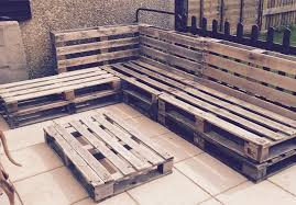 Plans For Pallet Patio Furniture by Outdoor Pallet Sectional Sofa