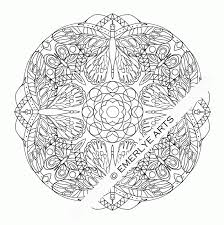 Butterfly Mandala Coloring Pages Printable Free