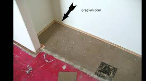 Laying Tile Over Linoleum Concrete by Remove Linoleum Tiles Before Installing Carpeting Or Tack Strip