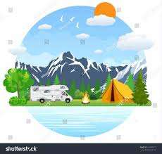 Vector Creative Collections Retrocaravanscreative Rv Camping Clip Art Free Wiki