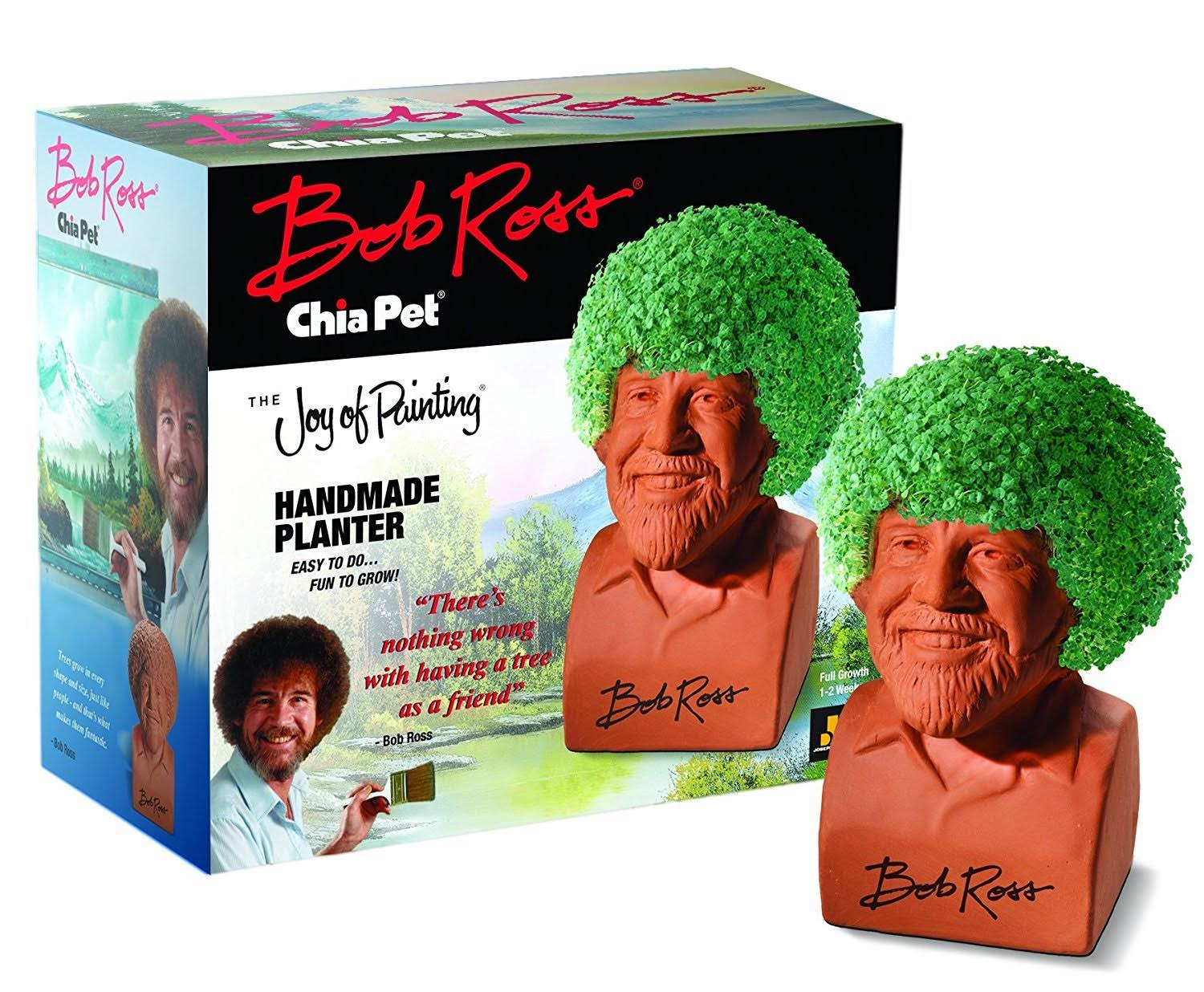 Bob Ross Chia Pet Planters Decorative Collectibles Kit