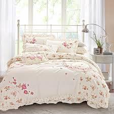 Aliexpress Buy  Cotton Korean Floral Embroidery Bedding